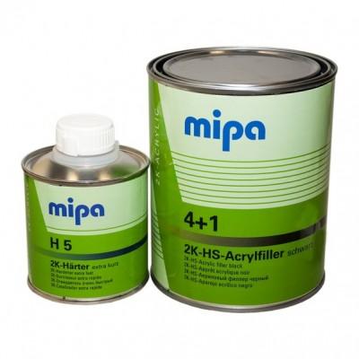 MIPA Грунт 2К Acrylfiller HS 4+1 черный 1л.+отвердитель 0,25л