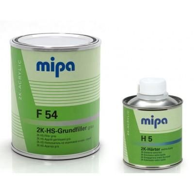 Грунт-наполнитель 2К Mipa F54 (1л+0,25л) черный 4+1 КОМПЛЕКТ с отв. H5