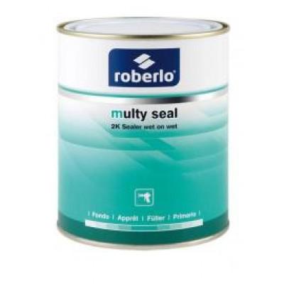 ROBERLO Грунт-наполнитель 2K MULTY SEAL S4 мокрый по мокрому, 4:1, СЕРЫЙ 1л