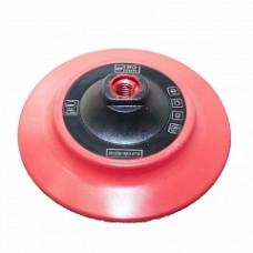 Подложка полиуретановая, гибкая с липучкой, красная, 150мм/М14