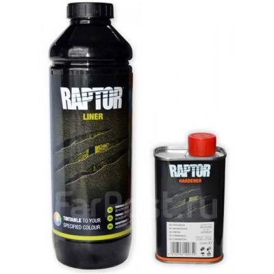 Защитное покрытие U-POL Raptor 2K 3:1 (1л) колеруемый,черный.