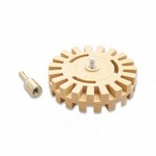 ADOLF BUCHER Диск резиновый зубчатый для снятия липких лент, со шпинделем, D100мм