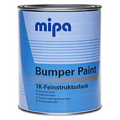 Краска структурная Mipa Bumper Paint (1л) черная